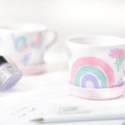 Regenbogen Tasse DIY