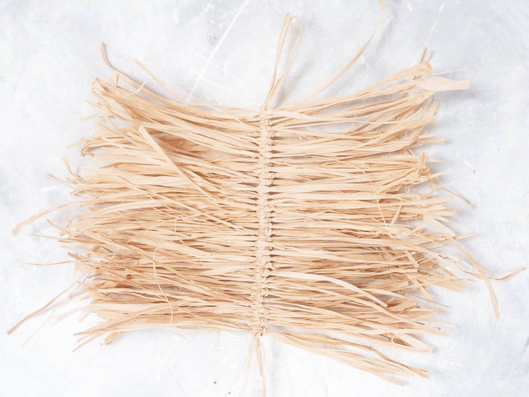 wanddeko mit Holzperlen im Boho-Stil Selbermachen
