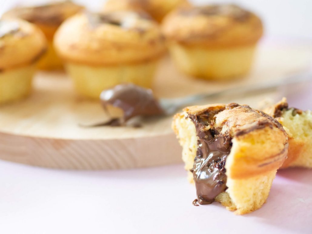 Leckeres Rezept: Swirl Muffins mit flüssigem Nutellakern. Einfach und göttlich. Ganz neu auf meinem DIY Blog!