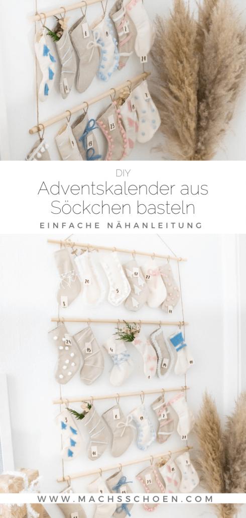 Bastelanleitung Adventskalender zum befüllen