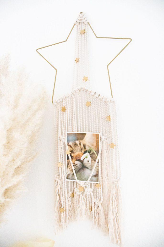 Makramee Wandbehang selber machen. Eine schöne Geschenkidee zu Weihnachten