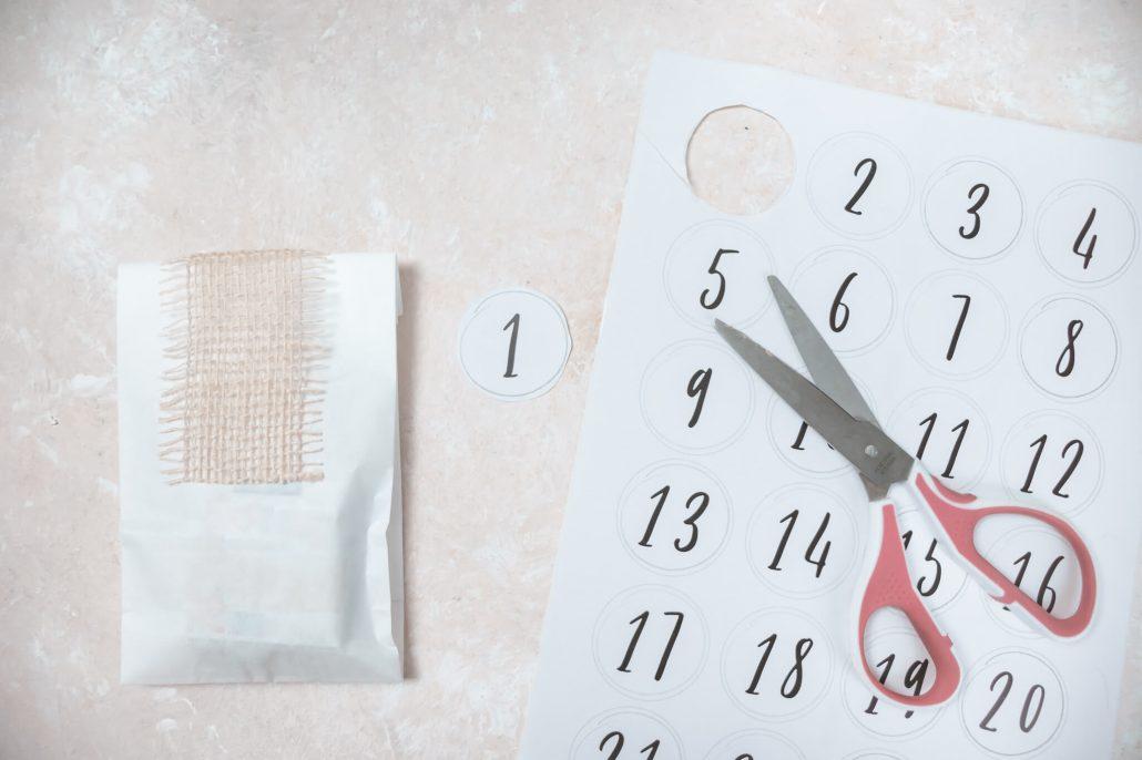 Einfacher Adventskalender zum selberbasteln