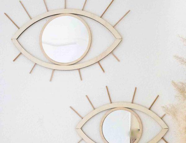 Angesagte Home Deko: Spiegel in Augenform selbstgemacht.