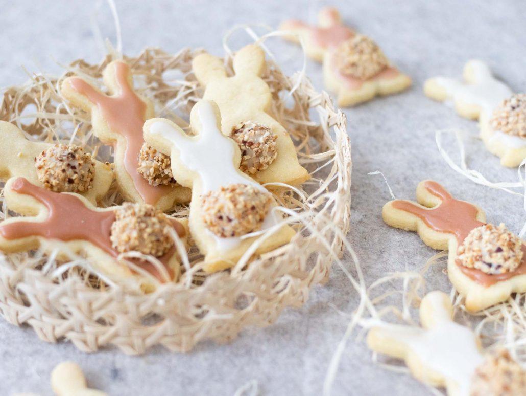 Rezept für Kekse in Hasenform. Leckere Hasenkekse fürs Osterfest zum Verschenken und selber Naschen.