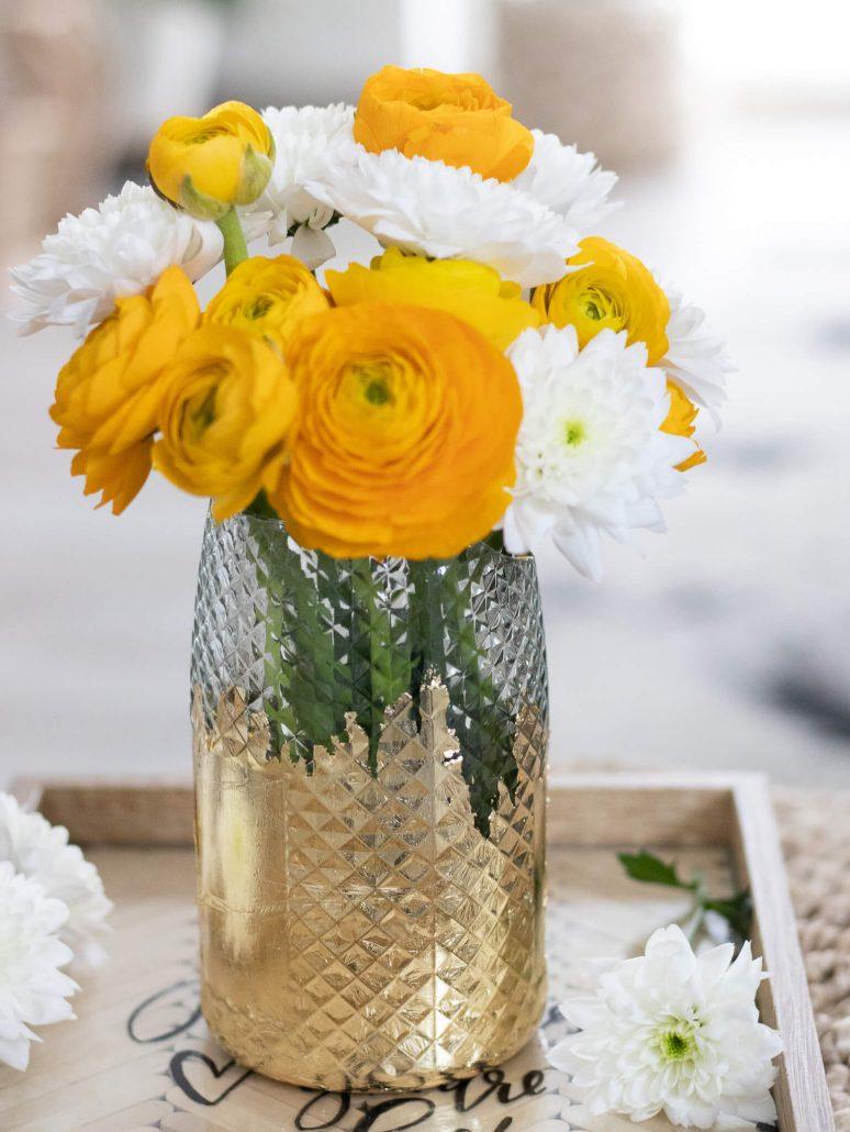 Upcycle-Vase aus Flasche