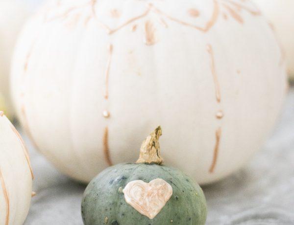 Herbstliche Kürbisdeko